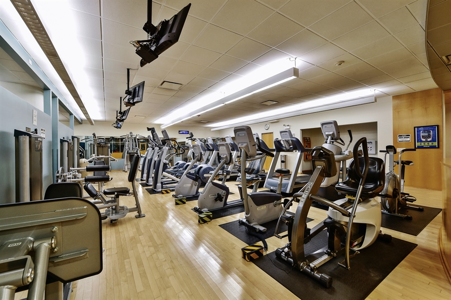Real Estate Photography - 505 N Lake Shore Dr, Unit 5607, Chicago, IL, 60611 - Gym