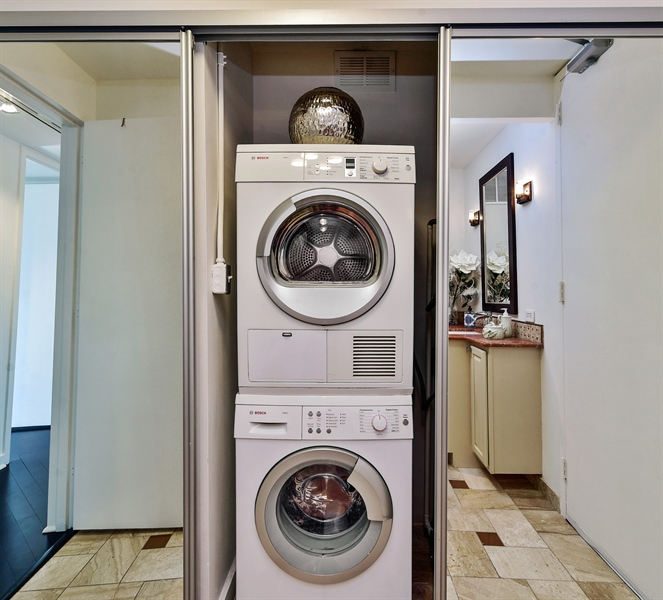 Real Estate Photography - 505 N Lake Shore Dr, Unit 5607, Chicago, IL, 60611 - Laundry Room