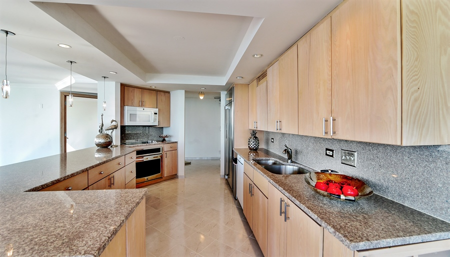 Real Estate Photography - 505 N Lake Shore Dr, Unit 5607, Chicago, IL, 60611 - Kitchen