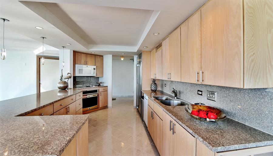 Real Estate Photography - 505 N Lake Shore Dr, Unit 5607, Chicago, IL, 60611 - Kitchen