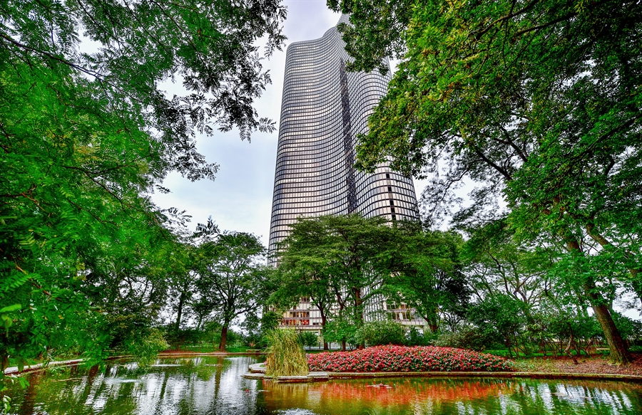 Real Estate Photography - 505 N Lake Shore Dr, Unit 5607, Chicago, IL, 60611 - Lake Point Tower