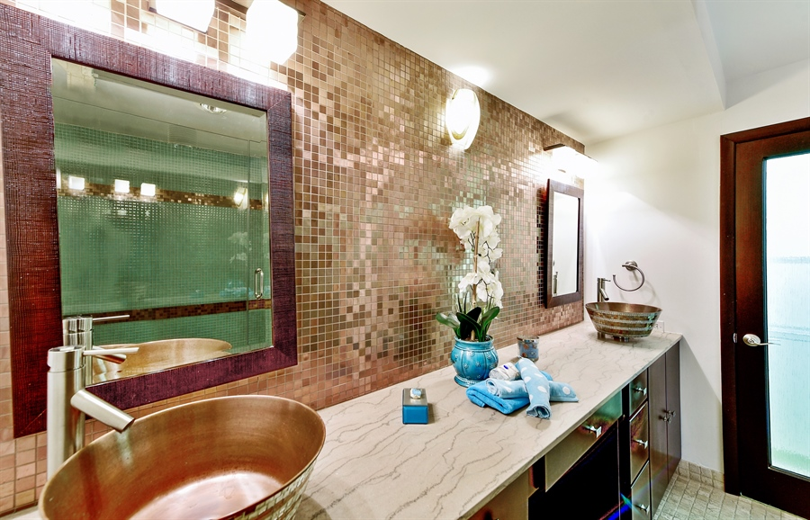 Real Estate Photography - 505 N Lake Shore Dr, Unit 5607, Chicago, IL, 60611 - Master Bathroom