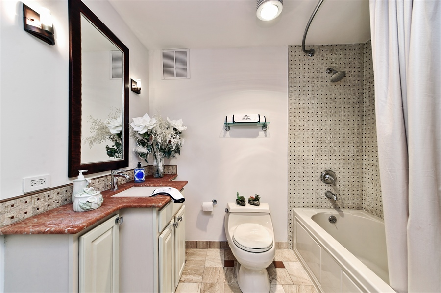 Real Estate Photography - 505 N Lake Shore Dr, Unit 5607, Chicago, IL, 60611 - 2nd Bathroom