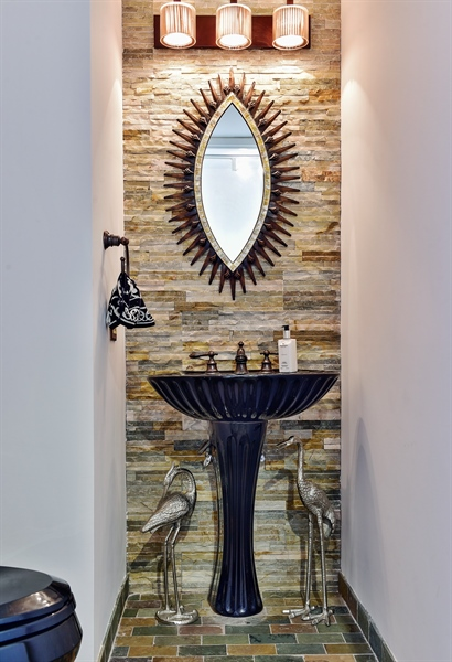 Real Estate Photography - 505 N Lake Shore Dr, Unit 5607, Chicago, IL, 60611 - Guest Powder Room