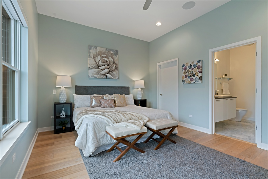 Real Estate Photography - 1611 N Hermitage Ave, Unit #302, Chicago, IL, 60622 - Master Bedroom