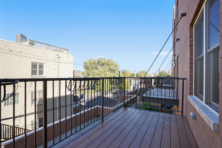 Real Estate Photography - 1611 N Hermitage Ave, Unit #302, Chicago, IL, 60622 - Balcony