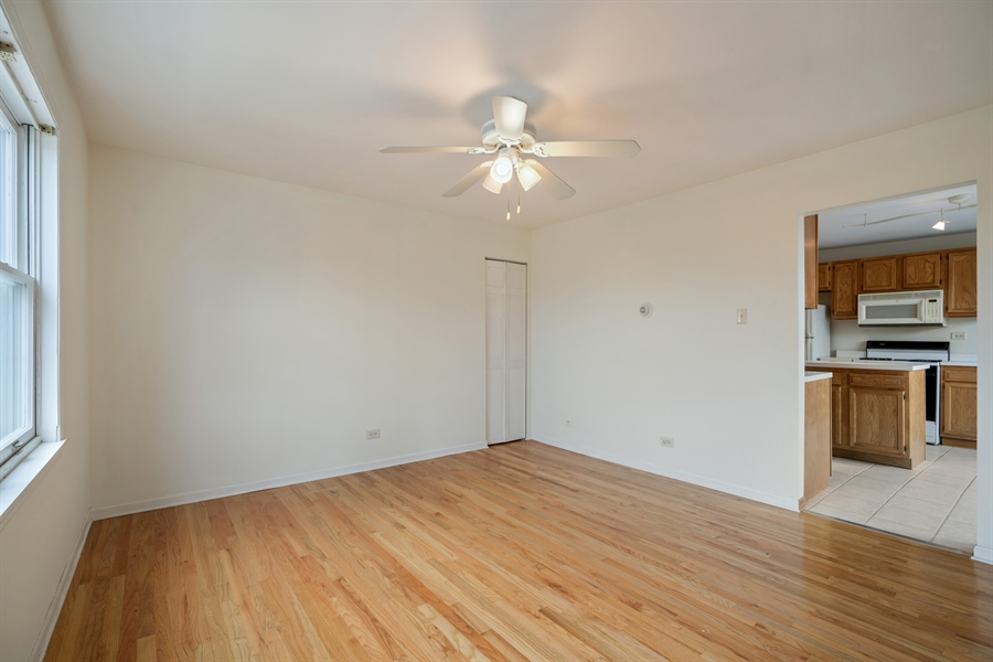 Real Estate Photography - 5317 N McVicker Ave, Chicago, IL, 60630 - Living Room