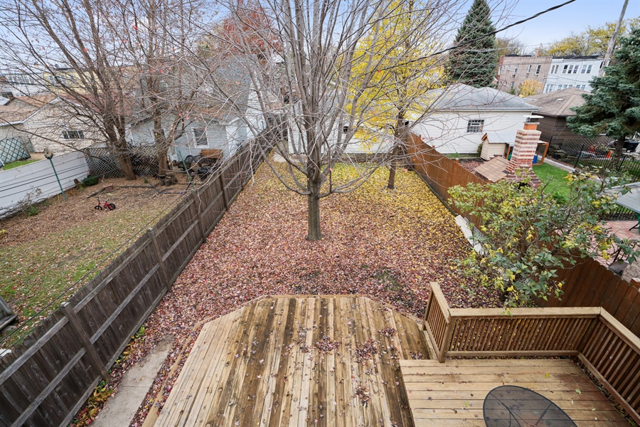 Real Estate Photography - 5317 N McVicker Ave, Chicago, IL, 60630 - Back Yard