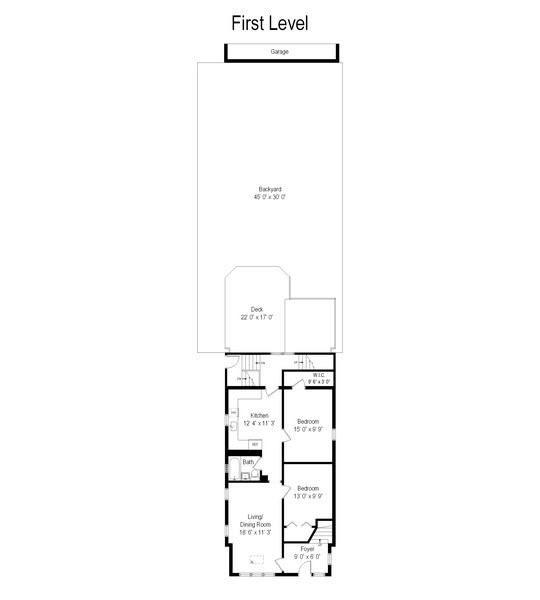 Real Estate Photography - 5317 N McVicker Ave, Chicago, IL, 60630 - Floor Plan