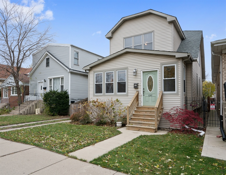 Real Estate Photography - 5317 N McVicker Ave, Chicago, IL, 60630 - Front View