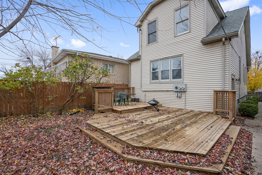 Real Estate Photography - 5317 N McVicker Ave, Chicago, IL, 60630 - Deck
