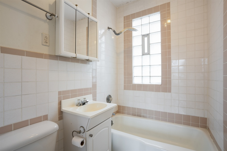 Real Estate Photography - 5317 N McVicker Ave, Chicago, IL, 60630 - Bathroom