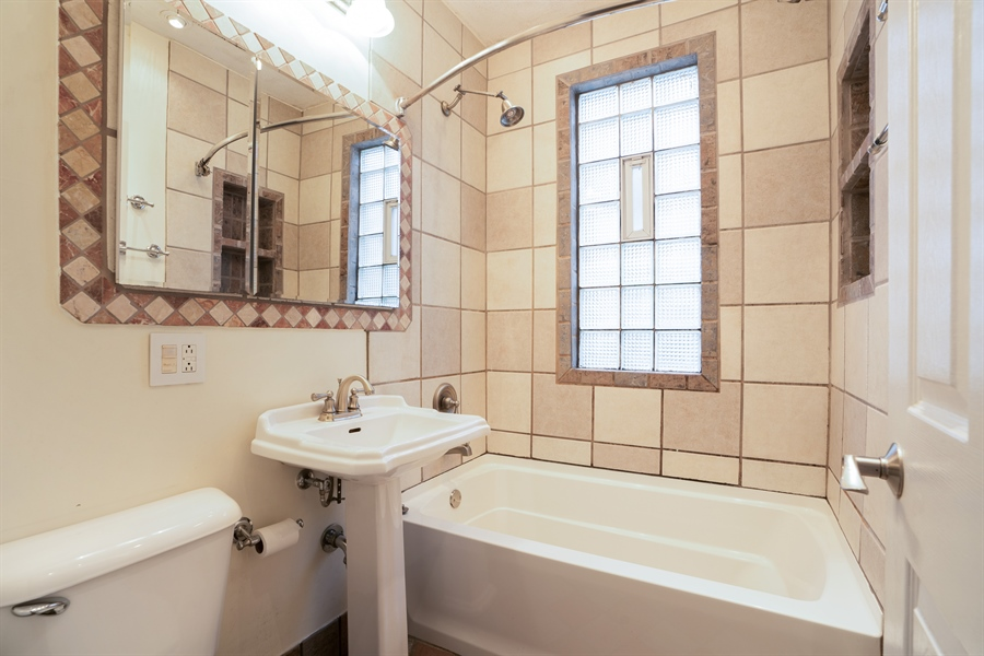 Real Estate Photography - 5317 N McVicker Ave, Chicago, IL, 60630 - 2nd Bathroom