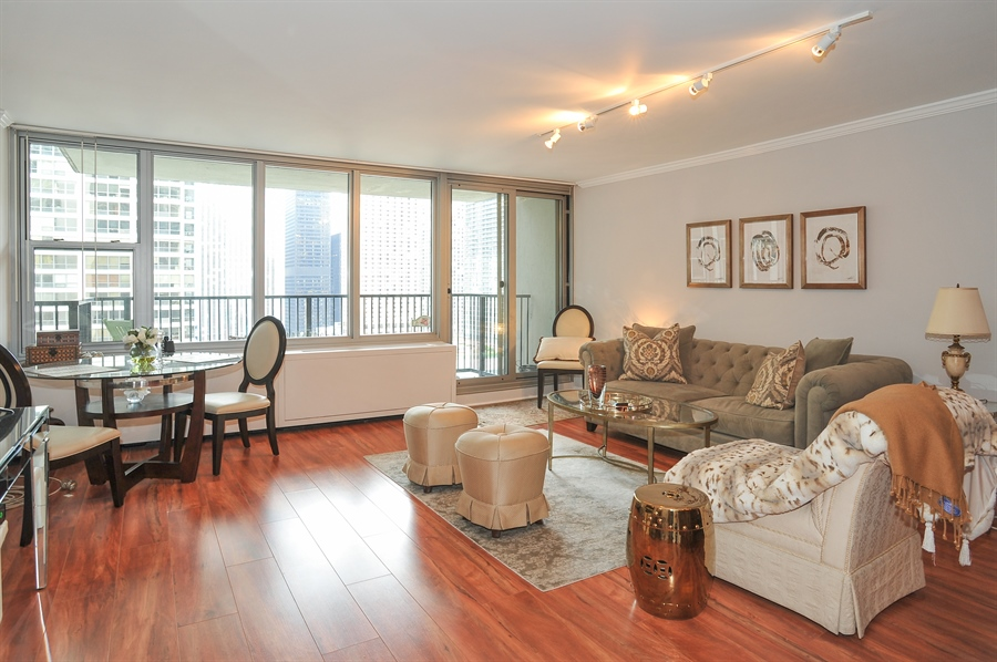 Real Estate Photography - 400 E Randolph St., 2124, Chicago, IL, 60601 - Living Room / Dining Room