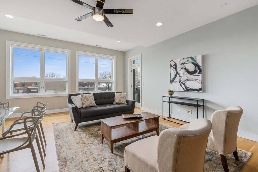 Real Estate Photography - 1317 N. Larrabee, #205, Chicago, IL, 60610 - Living Room