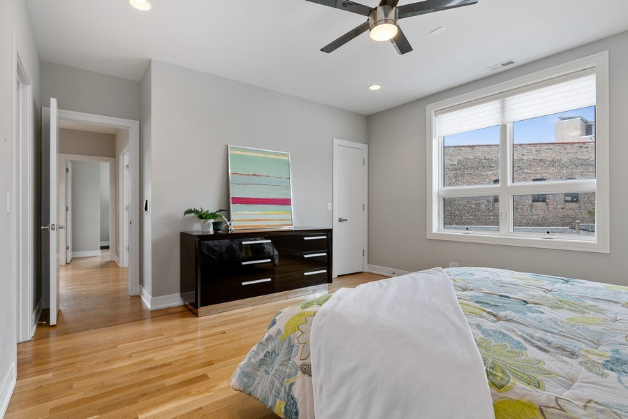 Real Estate Photography - 1317 N. Larrabee, #205, Chicago, IL, 60610 - Master Bedroom