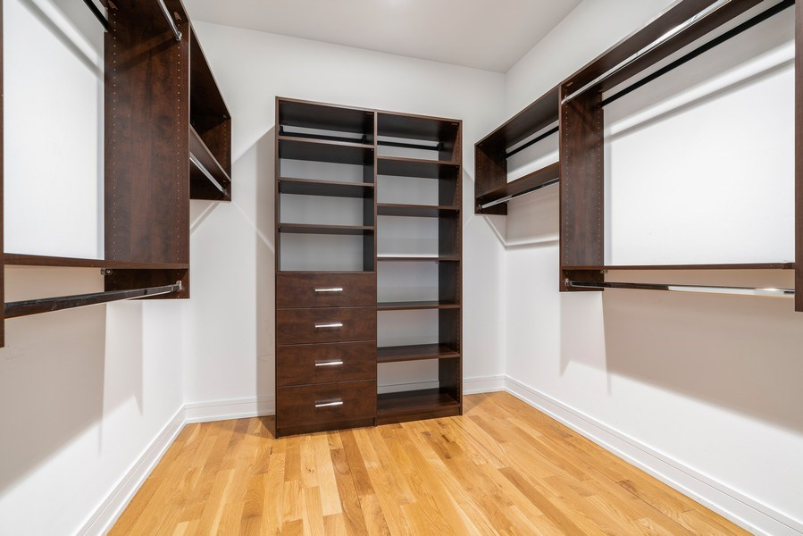 Real Estate Photography - 1317 N. Larrabee, #205, Chicago, IL, 60610 - Master Bedroom Closet