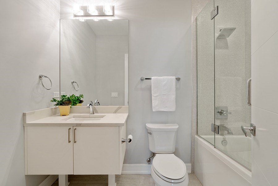 Real Estate Photography - 1317 N. Larrabee, #205, Chicago, IL, 60610 - 2nd Bathroom