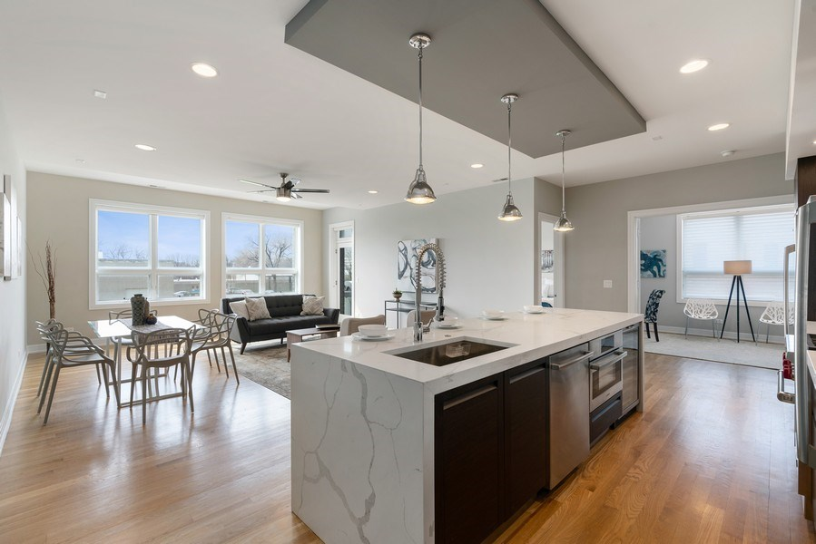 Real Estate Photography - 1317 N. Larrabee, #205, Chicago, IL, 60610 - Kitchen / Living Room