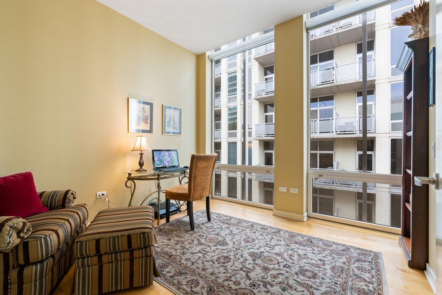 Real Estate Photography - 720 N. Larrabee, #1708, Chicago, IL, 60654 - 2nd Bedroom