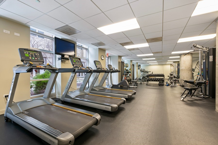Real Estate Photography - 720 N. Larrabee, #1708, Chicago, IL, 60654 - Gym