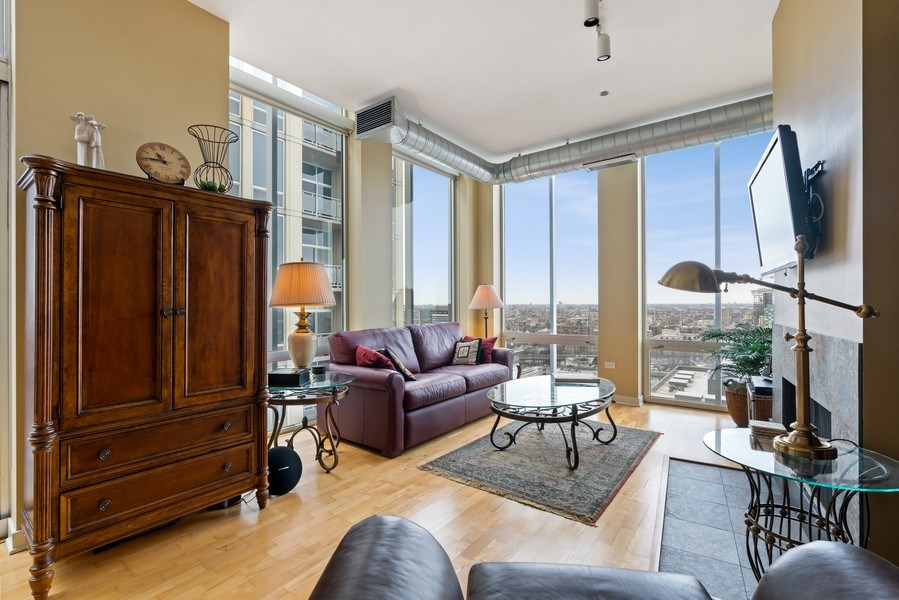 Real Estate Photography - 720 N. Larrabee, #1708, Chicago, IL, 60654 - Living Room