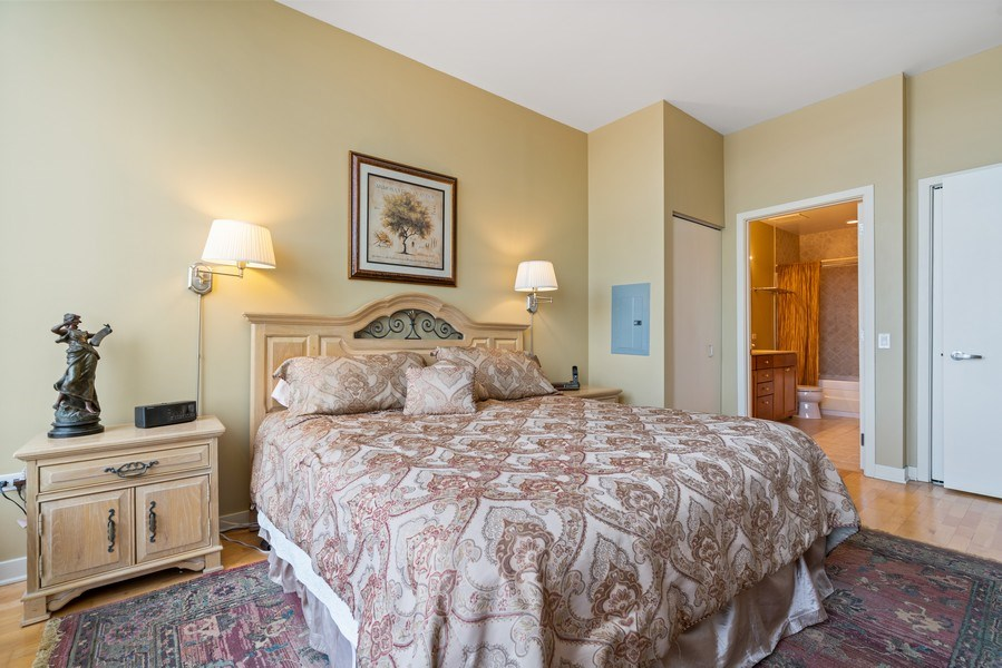 Real Estate Photography - 720 N. Larrabee, #1708, Chicago, IL, 60654 - Master Bedroom