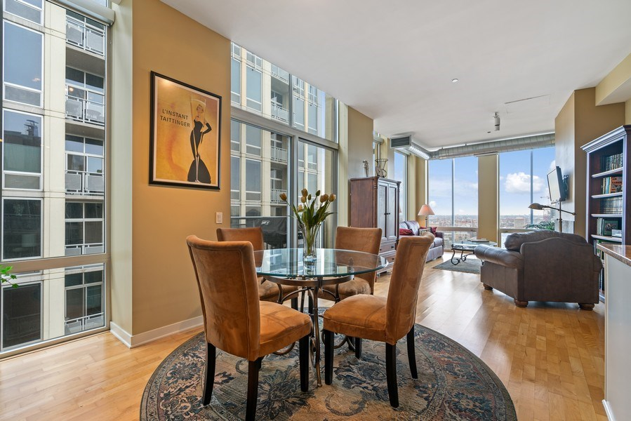 Real Estate Photography - 720 N. Larrabee, #1708, Chicago, IL, 60654 - Dining Room