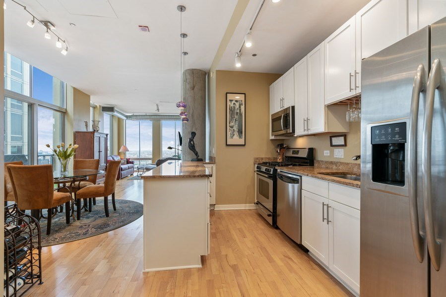 Real Estate Photography - 720 N. Larrabee, #1708, Chicago, IL, 60654 - Kitchen / Dining Room