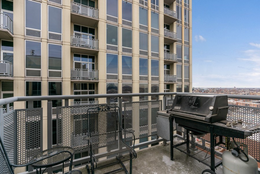 Real Estate Photography - 720 N. Larrabee, #1708, Chicago, IL, 60654 - Balcony