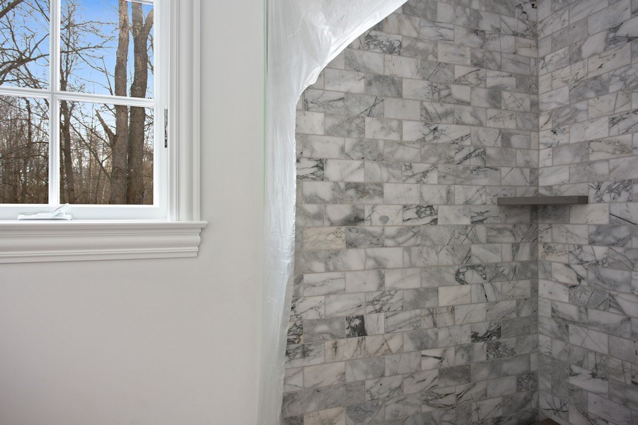 Real Estate Photography - 45328 Fairway Dr, Perkins, Grand Beach, MI, 49117 - Shower in Master Bath