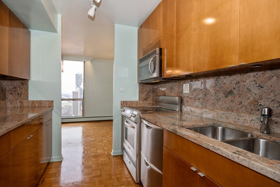 Real Estate Photography - 1310 N. Ritchie Ct., 27A, Chicago, IL, 60611 - Kitchen
