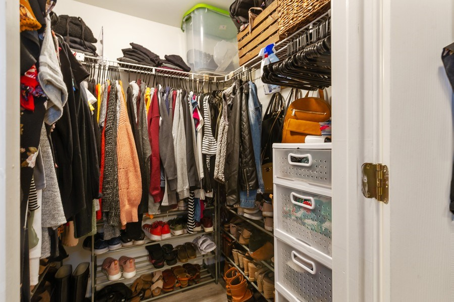 Real Estate Photography - 837 W Lawrence G, Chicago, IL, 60657 - Master Bedroom Closet