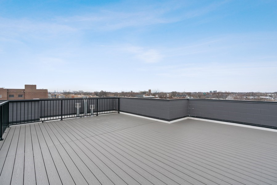 Real Estate Photography - 3016 W. Belmont, Chicago, IL, 60618 - Roof Deck