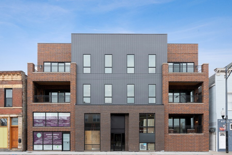 Real Estate Photography - 3016 W. Belmont, Chicago, IL, 60618 - Front View