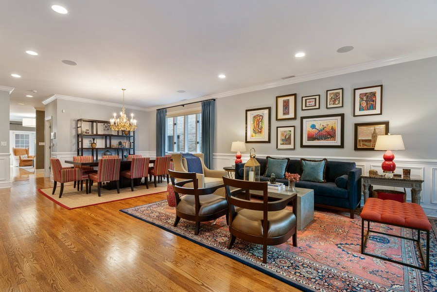 Real Estate Photography - 1710 N. Burling, Chicago, IL, 60614 - Living Room