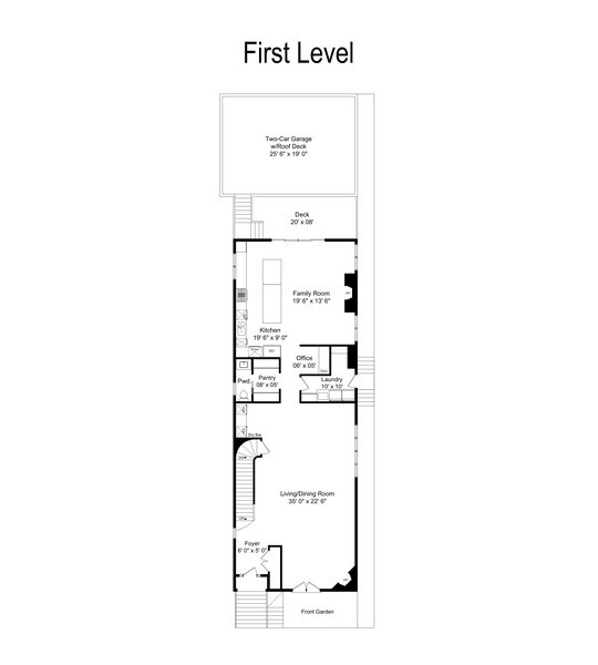 Real Estate Photography - 1710 N. Burling, Chicago, IL, 60614 - Floor Plan