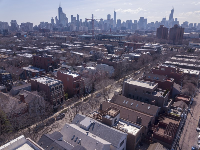 Real Estate Photography - 1710 N. Burling, Chicago, IL, 60614 - Aerial View