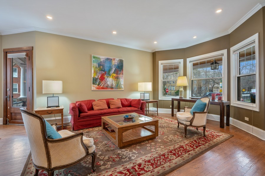Real Estate Photography - 3903 N Lawndale Ave, Chicago, IL, 60618 - Living Room