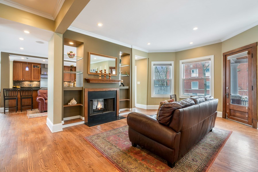 Real Estate Photography - 3903 N Lawndale Ave, Chicago, IL, 60618 - Sitting Room