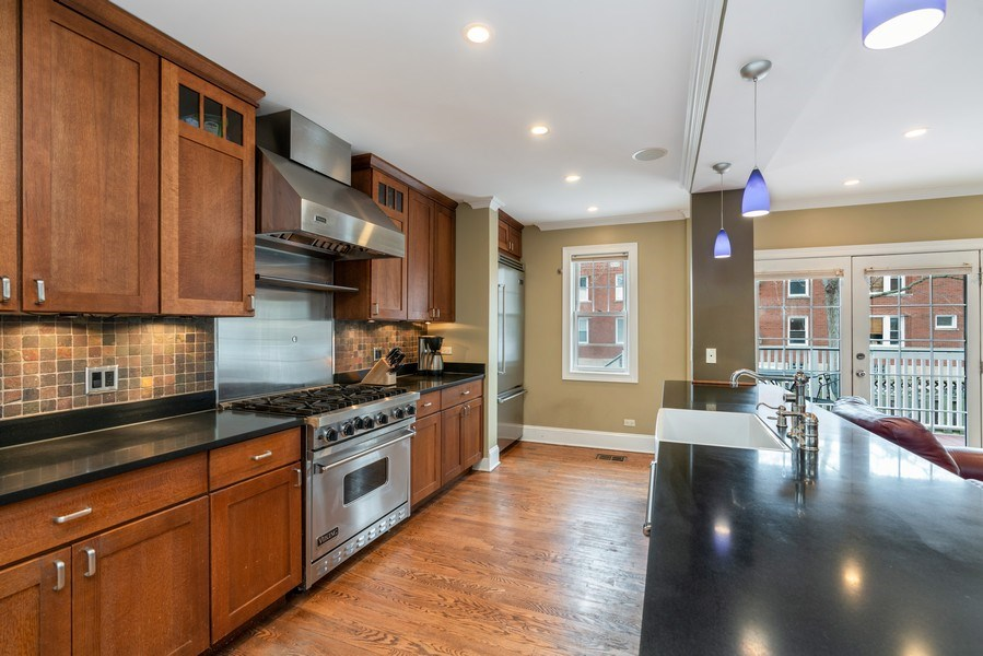 Real Estate Photography - 3903 N Lawndale Ave, Chicago, IL, 60618 - Kitchen