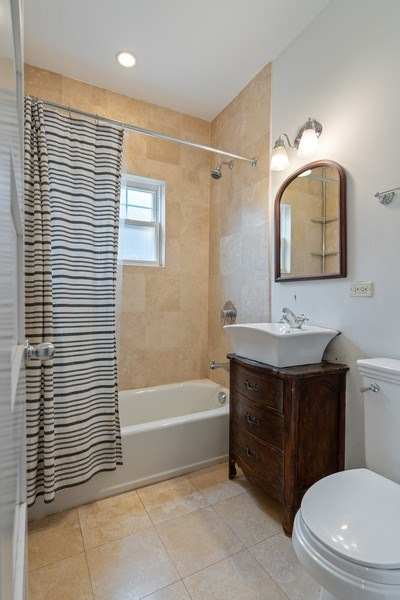 Real Estate Photography - 3903 N Lawndale Ave, Chicago, IL, 60618 - 2nd Bathroom
