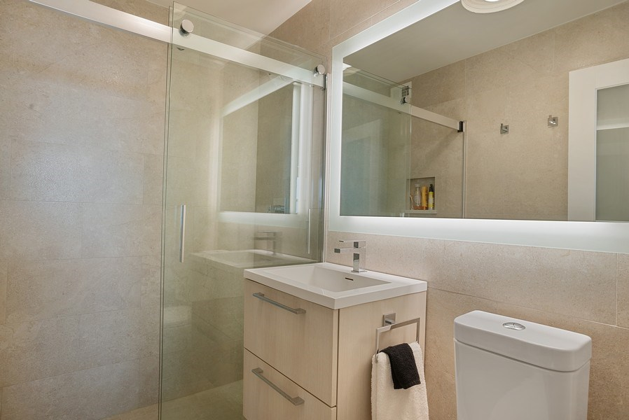 Real Estate Photography - 400 E Randolph St., Unit 3713, Chicago, IL, 60601 - Master Bathroom