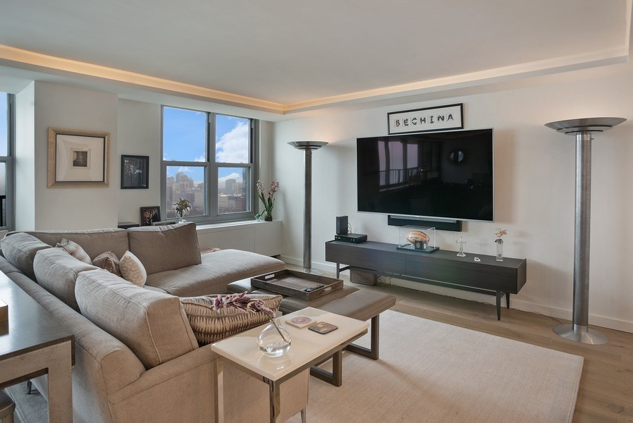 Real Estate Photography - 400 E Randolph St., Unit 3713, Chicago, IL, 60601 - Family Room