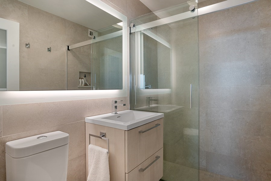 Real Estate Photography - 400 E Randolph St., Unit 3713, Chicago, IL, 60601 - Bathroom
