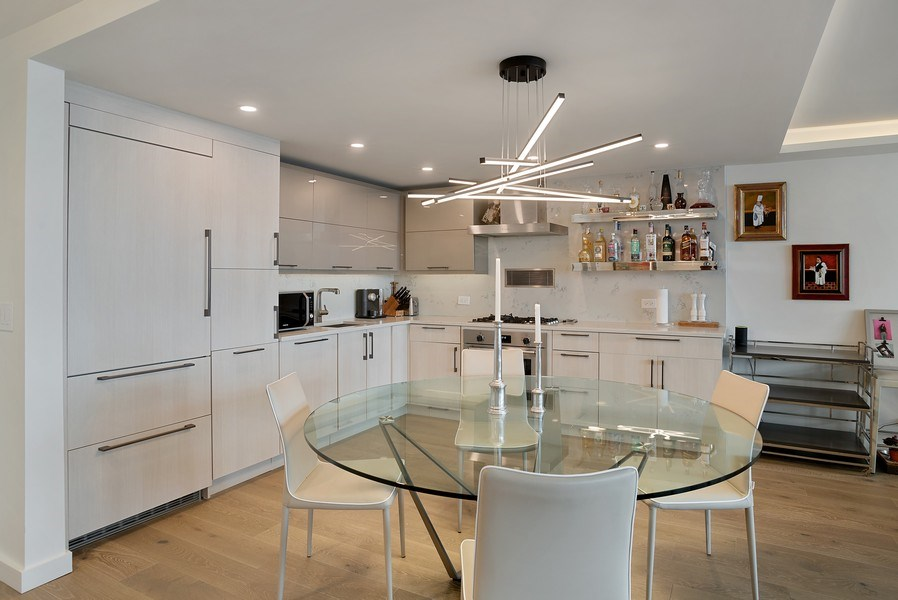 Real Estate Photography - 400 E Randolph St., Unit 3713, Chicago, IL, 60601 - Kitchen / Dining Room
