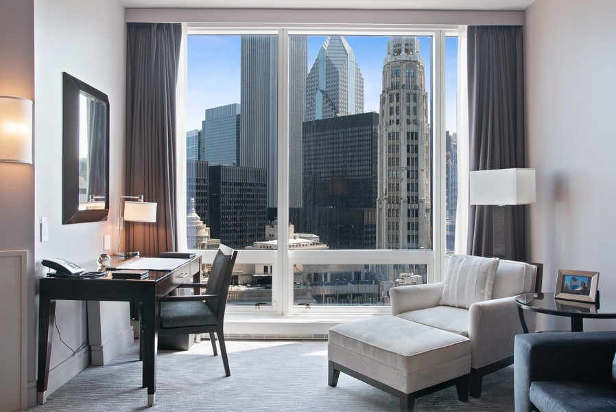 Real Estate Photography - 401 N Wabash #2642, Chicago, IL, 60611 - Living Room