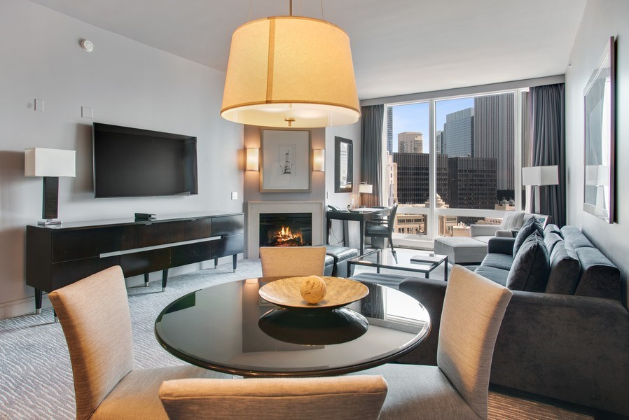 Real Estate Photography - 401 N Wabash #2642, Chicago, IL, 60611 - Living Room/Dining Room