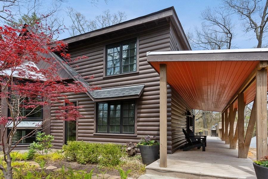 Real Estate Photography - 3922 Michiana Drive, New Buffalo, MI, 49117 - Front Entry Porch