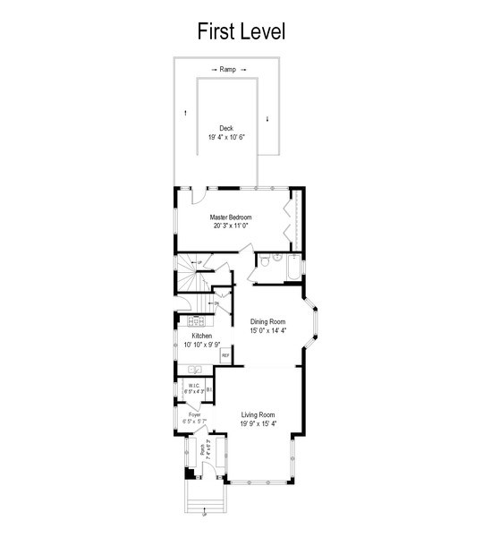 Real Estate Photography - 2130 W. Estes, Chicago, IL, 60645 - Floor Plan